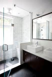 Modern Bath Shower Floating Double Vanity Contemporary Bathroom Ty