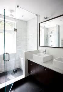 Floating double vanity contemporary bathroom ty