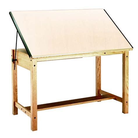 Drafting Table Supplies Mayline 37 5 Quot X 60 Quot Wood 4 Post Drafting Table 7706 7706a 7706b