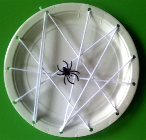 how to make a spider web craft for habitat lesson spider web paper plate bug pre k