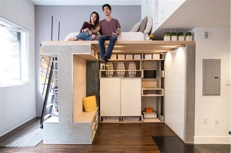 apartment designs for small spaces custom loft maximizes space in tiny condo freshome