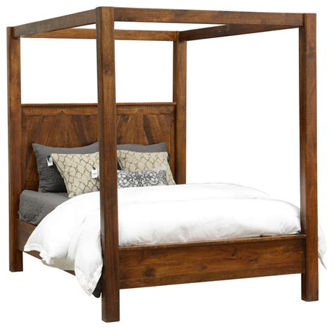Wood Canopy Bed Rustic Wood Canopy Bed Size Rustic Canopy Beds By Taramundi Furniture