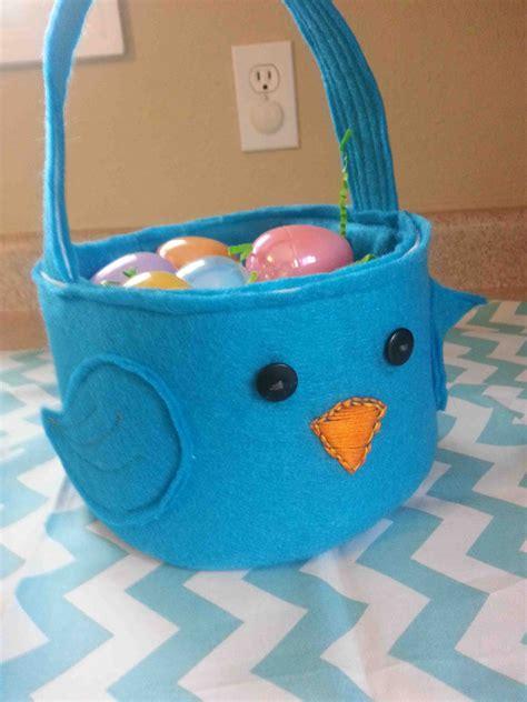 diy easter basket made by me shared with you tutorial diy felt easter