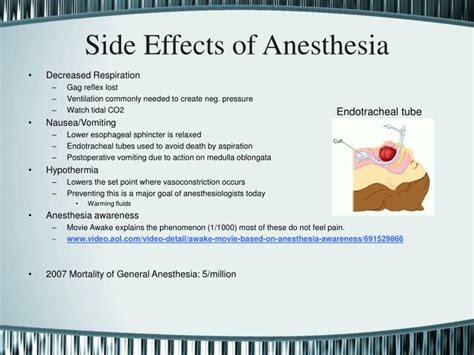 anesthesia side effects ppt general anesthesia powerpoint presentation id 1240747