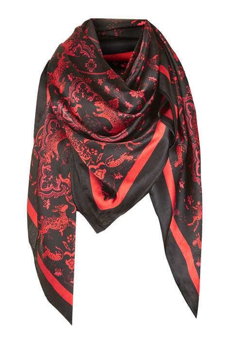 Topshops Skull Scarf Slouch Bag by Oversized Silky Tiger Print Scarf Scarves Bags