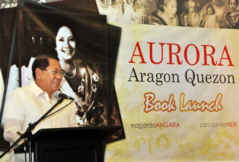 biography book launch aurora aragon quezon biography book launch