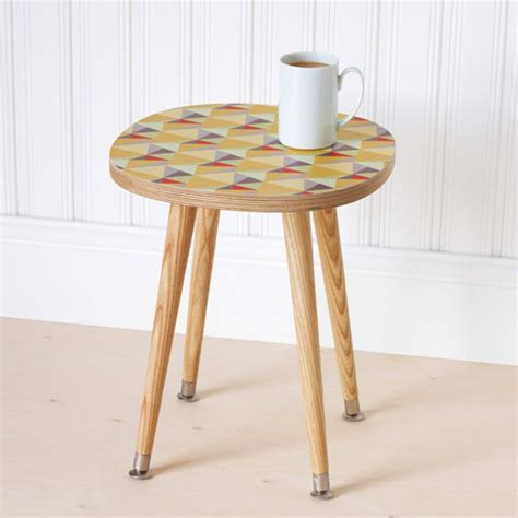 shards retro side table range by beyond the fridge retro