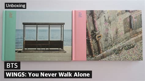 unboxing bts you never walk alone wings extension album left right ver