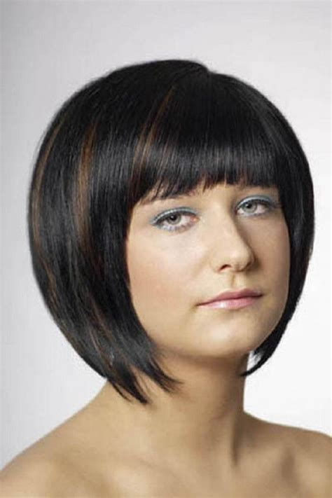 black bob with brown highlights pin by amy davis on cute hair pinterest