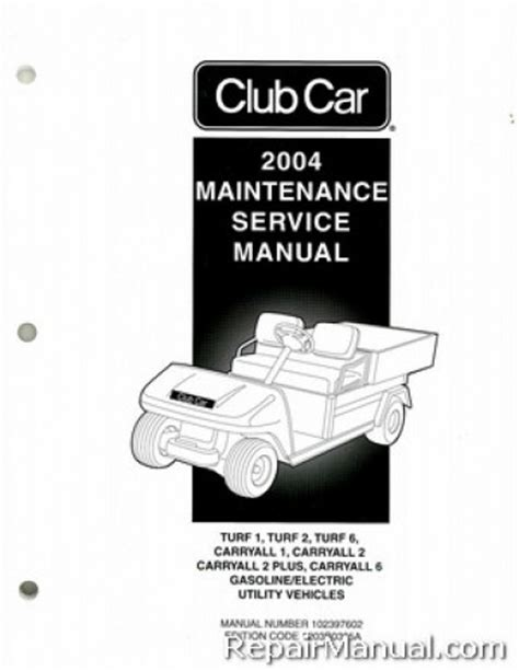 service manual car owners manuals for sale 2004 chevrolet s10 seat position control service 2004 club car turf carryall golf cart service manual