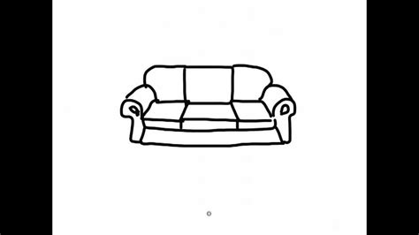 how to draw a 3d sofa ipad draw a simple cartoon sofa 2 youtube