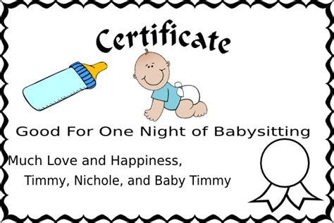 babysitting coupon clip art vector clip art online