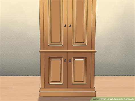 white wash cabinets how to whitewash cabinets 12 steps with pictures wikihow