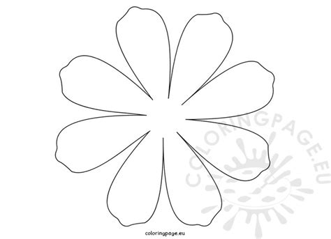 printable daisies flowers printable flower daisy 8 petal coloring page