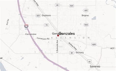 louisiana map gonzales gonzales louisiana location guide