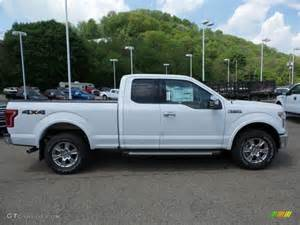 Ford F150 White 2015 Oxford White Ford F150 Xlt Supercab 4x4 103841519