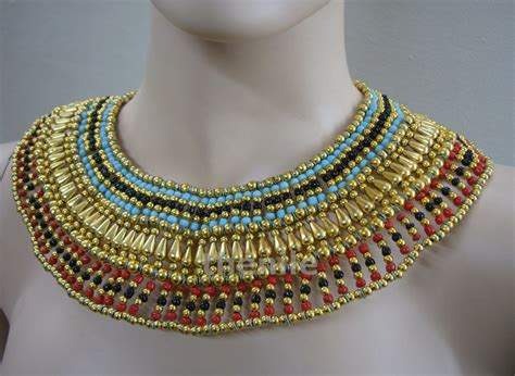 ancient egyptian cleopatra collar necklaces large egyptian beaded queen cleopatra necklace collar by