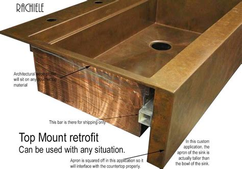 top mount apron sink farmhouse sink installation in existing cabinet