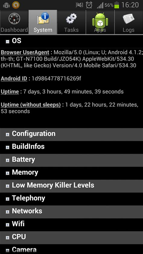 android system info android system info