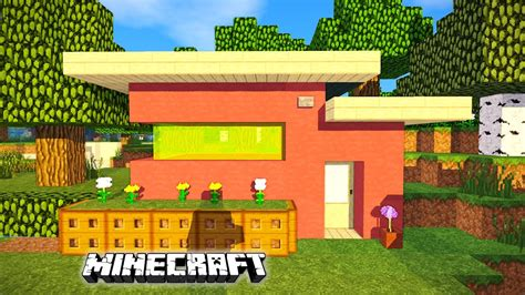 how to build a small modern house minecraft how to build a small modern house pink house