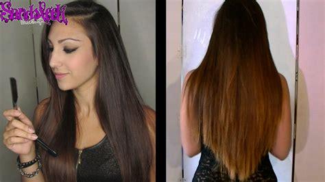 pelo cortado en pico cabello diy corte a capas manteniendo el largo