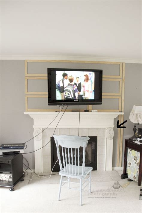 Mount Tv Above Fireplace Hide Wires by Best 20 Hiding Tv Wires Ideas On Hide Tv
