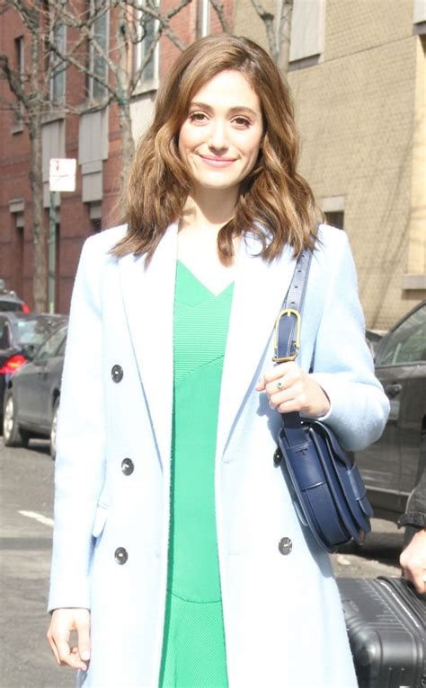 emmy rossum live emmy rossum arrives at live with kelly michael in new