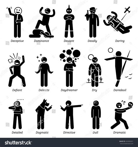 Character Traits Starting With Letter X neutral personalities character traits stick figures stock