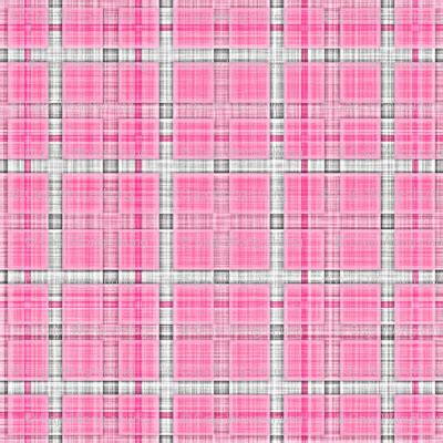 Tartan Grid plaid check tartan grid stripes grunge pencil scratch pink fabric caja design spoonflower