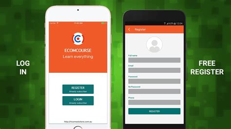 E Course Android App Template Education And School App Templates For Android Codester Android App Template