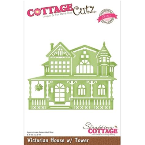 Cottage Die Cuts by Cottage Cutz Elites House With Tower Cutting Die