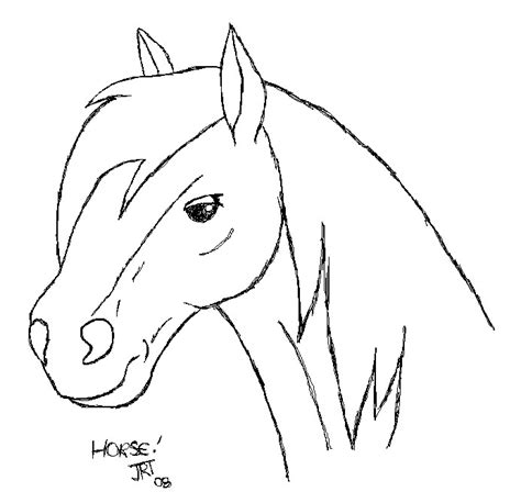 horse outline by joolsiia on deviantart
