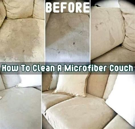 cleaning a sofa how to clean microfiber furniture cleaning tips pinterest