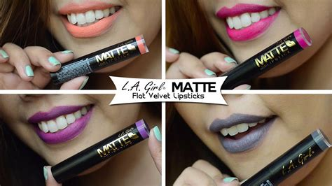 A Matte Lipstick 805 la matte flat velvet lipsticks swatches affordable