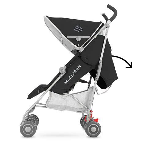 maclaren volo recline maclaren 2016 2017 quest stroller black silver