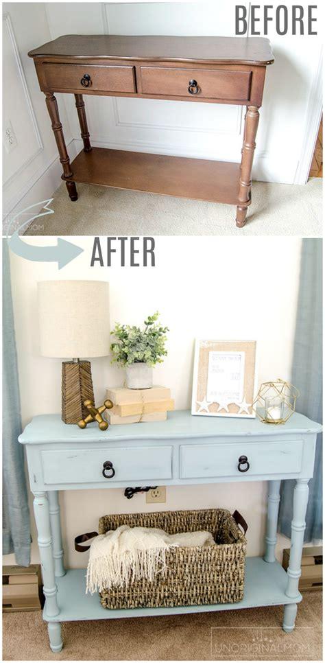 coastal blue side table makeover house furniture