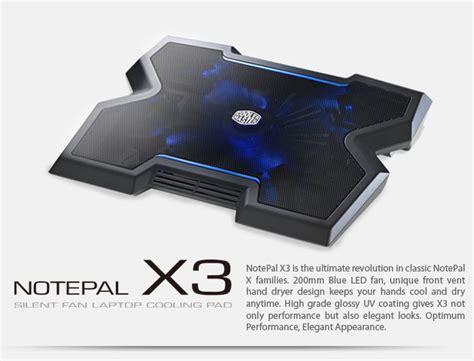 Cooler Master Notepal X3 Silent Fan Laptop Cooling Fan Black cooler master notepal x3