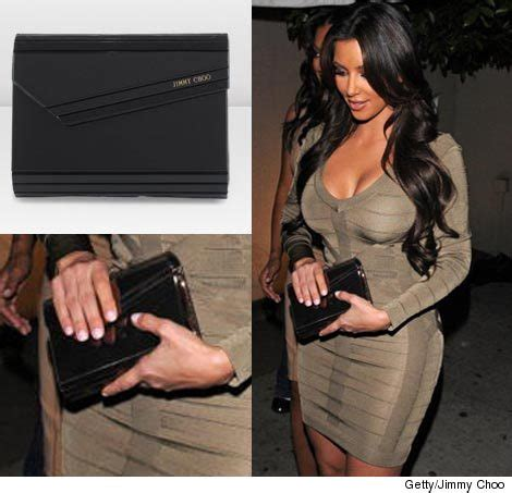 kim kardashian high school reunion purse celeb pricetag kim k s clutch toofab