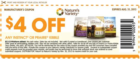 dog food coupons in canada canadian coupons save 4 on nature s variety instinct or