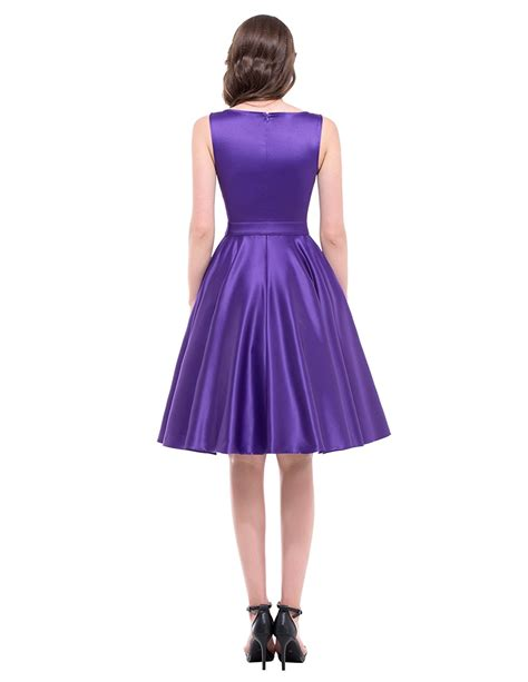 purple swing dress audrey purple satin swing dress 1950sglam