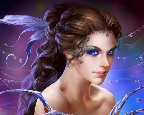 wallpaper 3d e7 fantasy girl art fantasy beautiful girl magical colors