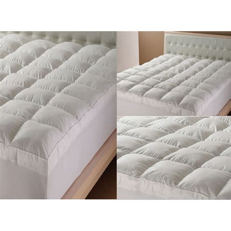 Feather Mattress Topper Reviews by 12 5cm Goose Feather And Mattress Topper 5 Size