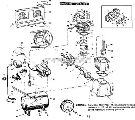 sears craftsman air compressor parts 106 171941