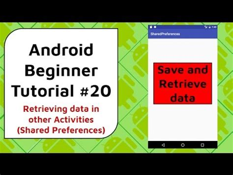 tutorial android preferences android beginner tutorial 20 shared preferences