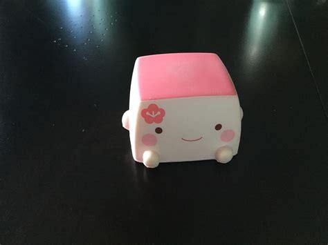 Squishy Dango Squishy Licensed Original hannari tofu squishy mascot pink not in original