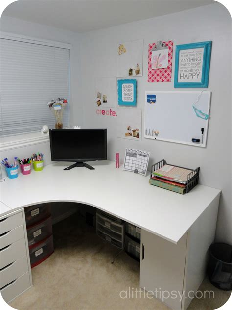 craft room desk craft room reveal a tipsy