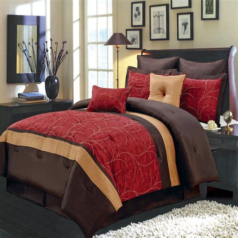 red bed set 12 piece atlantis red comforter set