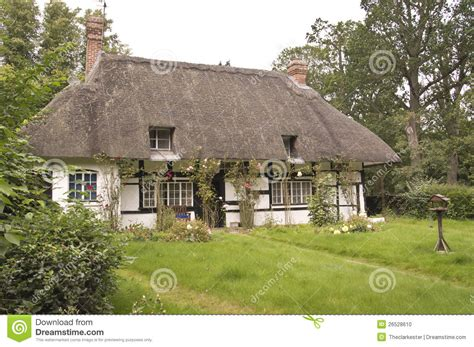 How To Build A Cottage Roof by Traditional Thatched Roof Cottage Stock Photo Image