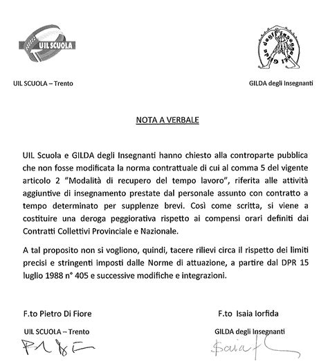 lettere di contestazione disciplinare accordo foreg scuola docenti dd 21 11 2012 htm