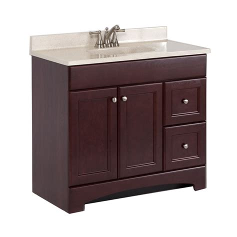 18 bathroom vanity with sink shop style selections 36 7 in x 18 9 in cherry integral